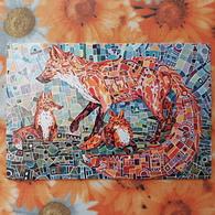 Fox Tribe - Modern Russian Postcard - - Animaux & Faune