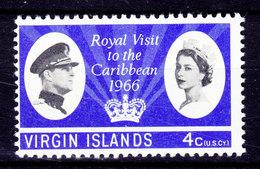 British Virgin Islands 1966 Mi. 163    4 C. Royal Visit MNH** - Iles Vièrges Britanniques