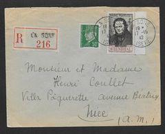 ISERE - Enveloppe Recommandée De LA SONE - Marcophilie (Lettres)