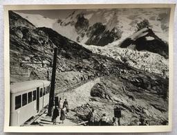 Jaren '30 - Foto Photo - Tram - Tramway Du Mont-Blanc (TMB) - Le Nid D'Aigle - 18 X 24 Cm - Photos