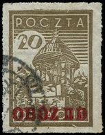 Pologne, Camp De Prisonniers De Gross-Born, Oflag IID, N° Michel 6A, Surcharge Rouge, Rare Et TB - Stamps