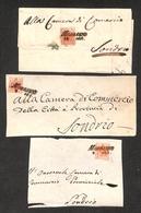 0002 ANTICHI STATI - LOMBARDO VENETO - Morbegno (Pt.5) - 1850 - 15 Cent (3a - Prima Tiratura) - Una Lettera (13 Agosto)  - Timbres