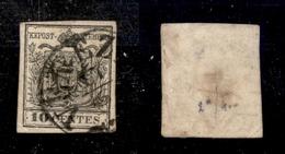 0009 ANTICHI STATI - LOMBARDO VENETO - 1857 - 10 Cent (19) Carta A Macchina - Usato (700) - Timbres