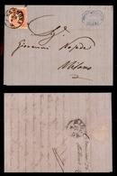 0012 ANTICHI STATI - LOMBARDO VENETO - II Guerra D'Indipendenza 26 Aprile 1859 - 5 Soldi Rosso (25) Su Lettera Da Cremon - Timbres