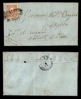0013 ANTICHI STATI - LOMBARDO VENETO - Primi Giorni D'uso - 10 Soldi Bruno (26) Su Lettera Da Casalpusterlengo (Pt.9) A  - Non Classés