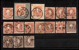 0015 ANTICHI STATI - LOMBARDO VENETO - 1858/1859 - Cartoncino Con 16 Esemplari Della II Emissione - Tipi Diversi - Da Es - Timbres