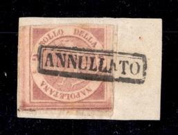 0029 ANTICHI STATI - NAPOLI - 1858 - Mezzo Grano (1) - Preciso A Sinistra In Basso (725) - Non Classés