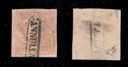 0031 ANTICHI STATI - NAPOLI - 1858 - 20 Grana Rosa Lillaceo (12a) - Usato - Diena + Cert. AG (1.500) - Timbres