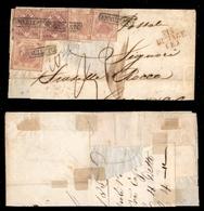 0032 ANTICHI STATI - NAPOLI - Testatina Di Lettera Da Napoli A Genova Del 1859 Affrancata Per 49 Grana - Via Di Mare F.  - Timbres