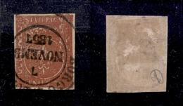 0042 ANTICHI STATI - PARMA - 1853 - 25 Cent Bruno Rosso Scuro (8a) Molto Inchiostrato E Oleoso (varietà Tipo E) Con Valo - Timbres