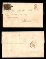 0047 ANTICHI STATI - PONTIFICIO - Lettera Da Ronciglione A Roma Del 29.9.61 Affrancata Con 3 Baj Bruno Grigio (4a) - Fre - Non Classés