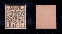 0050 ANTICHI STATI - PONTIFICIO - 1860 - 5 Baj Rosa Vinaceo (6Aa) - Nuovo Con Gomma (800) - Timbres