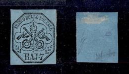 0051 ANTICHI STATI - PONTIFICIO - 1852 - 7 Baj (8) - Senza Gomma - Molto Bello (750) - Timbres