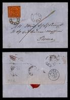 0053 ANTICHI STATI - PONTIFICIO - Lettera Da Toscanella (Pt.3) A Roma Del 4.11.67 Affrancata Con 10 Cent (17) - Raybaudi - Timbres