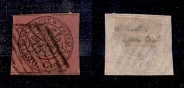 0054 ANTICHI STATI - PONTIFICIO - 1867 - 20 Cent (18c) Senza Punto Dopo Cent - Ottimi Margini (675) - Timbres
