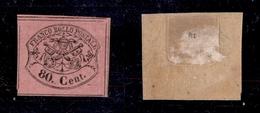 0055 ANTICHI STATI - PONTIFICIO - 1867 - 80 Cent (20) - Nuovo Con Gomma - Molto Bello (325) - Non Classés