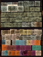 0058 ANTICHI STATI - PONTIFICIO - 1852/1868 - Due Cartoncini Con 99 Esemplari Del Periodo - Interessante - Da Esaminare - Timbres