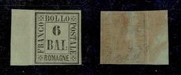 0060 ANTICHI STATI - ROMAGNE - 1859 - 6 Bai (7) Bordo Foglio - Nuovo Con Piena Gomma - Splendido - G.Bolaffi (850+) - Timbres