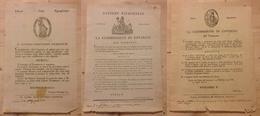 0061 ANTICHI STATI - SARDEGNA - Governo Provvisorio Piemontese - 1799 (28.1)/1800 (3.7-27.9) - 3 Decreti - Non Classés
