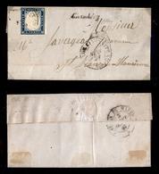 0070 ANTICHI STATI - SARDEGNA - Letterina Da Chambery A St. Jean Del 1.9.59 - 20 Cent (15A) Annullato Con Uff. Amb. Line - Timbres