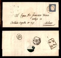 0071 ANTICHI STATI - SARDEGNA - Bormio (DC Pt.4) 11.3.60 (1°data Vista) - 20 Cent (15C) Su Lettera Per Milano - Timbres
