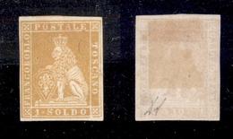 0082 ANTICHI STATI - TOSCANA - 1851 - Prove - 1 Soldo Giallo (P2) - Molto Bello - Diena + Cert. AG (225) - Timbres