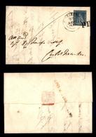 0083 ANTICHI STATI - TOSCANA - Lettera Da Poggibonsi A Castel Fiorentino (lineare Rosso Al Retro) Del 22.8.53 Affrancata - Timbres