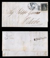 """0086 ANTICHI STATI - TOSCANA - Splendido 6 Crazie Ardesia (7) Con Grandi Margini - Lettera Da Firenz """"PD"""" A Viterbo Del  - Timbres"""