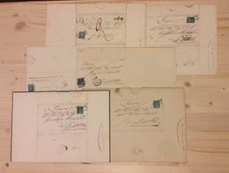 0089 ANTICHI STATI - TOSCANA - 1854/1857 - 6 Lettere D'archivio Affrancate Con 2 Crazie - Da Esaminare - Non Classés