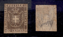 0091 ANTICHI STATI - TOSCANA - 1860 - 10 Cent (19) - Tre Margini Appena Intaccati (6.500) - Non Classés