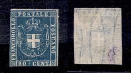 0092 ANTICHI STATI - TOSCANA - 1860 - 20 Cent (20) - Senza Gomma - Due Lati Corti (6.000) - Timbres