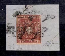 """0094 ANTICHI STATI - TOSCANA - 1860 - 40 Cent (21) Con Grandi Margini - Annullo """"Insufficiente"""" Ripetuto - Molto Bello - - Non Classés"""