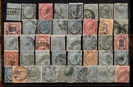 0098 ANTICHI STATI - TOSCANA - Antichi Stati - Piccolo Lotto Di Annullamenti Ducali - Cartoncino Di 46 Valori De La Rue/ - Timbres
