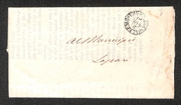 0105 RISORGIMENTO ITALIANO - Lettera In Franchigia Da Palermo Con Annullo Borbonico Del 21.7.1860 - Timbres