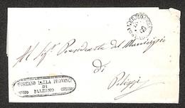 0106 RISORGIMENTO ITALIANO - Lettera In Franchigia Da Palermo Con Annullo Borbonico Del 11.9.1860 - Non Classés