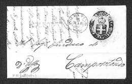 """0107 RISORGIMENTO ITALIANO - Ovale """"Guardia Municipale Di Belforte"""" + SD Belforte Su Lettera In Franchigia Per Camporoto - Non Classés"""