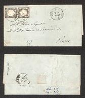 0115 REGNO - Coppia Del 1 Grano (19) Su Lettera Da Chieti A Penne Del 6.5.62 (360) - Timbres