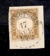 0118 REGNO - 1862 - 10 Cent (1) - Monopoli 17.11.62 - Molto Bello - Diena (850) - Non Classés