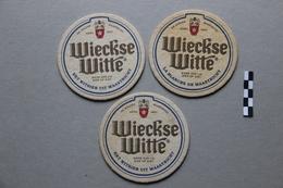 Lot De 3 Sous-Bocks Bière : Wieckse Witte - Beer Mats