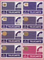 France, Lot De 8 Télécartes, PYJAMA, B - Phonecards