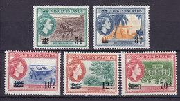 British Virgin Islands 1962 Mi. 128-31, 133 Queen Elizabeth II & Various Designs Overprinted MNH** - Iles Vièrges Britanniques