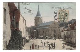 36 INDRE - SAINT GAULTIER Place De L'Eglise, Aquarellée - France