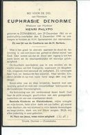 B.P.  ZONNEBEKE DENORME EUPHRASIE 1861 - 1944 - Religion & Esotericism