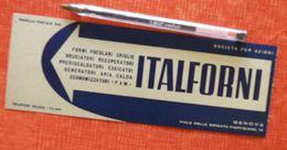 Italforni - KSB - Genova - 1955 - Marque-page - Pompe - Italie