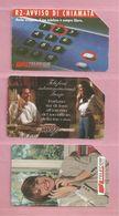 Italie, Lot De 3 Télécartes, B - Phonecards