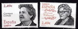 2007,  Spanien, 4232/33,  Persönlichkeiten: Carmen Conde/Rosa Chacel, MNH ** - 1931-Hoy: 2ª República - ... Juan Carlos I