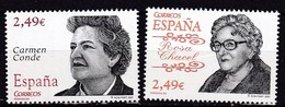 2007,  Spanien, 4232/33,  Persönlichkeiten: Carmen Conde/Rosa Chacel, MNH ** - 1931-Aujourd'hui: II. République - ....Juan Carlos I