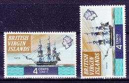 British Virgin Islands 1970 Mi. 206 X &Y     4 C Schiff Ship 'Thetis' Wmk. Stehend Und Liegend MH* - British Virgin Islands