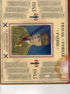 GUERRE 1939-1945- WW 2- RARE CALENDRIER MARECHAL PETAIN 1943- 16- CARTE CHARENTE- ANGOULEME-CONFOLENS-AIGRE-ROUILLAC- - Calendars