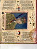 GUERRE 1939-1945- WW 2- RARE CALENDRIER MARECHAL PETAIN 1943- 16- CARTE CHARENTE- ANGOULEME-CONFOLENS-AIGRE-ROUILLAC- - Calendriers